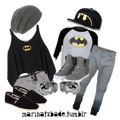 """batman couple"" by marinatzbade on Polyvore"