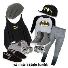"""batman couple"" by marinatzbade on Polyvore"