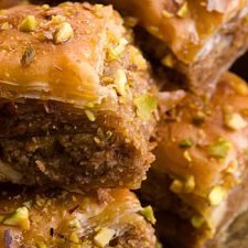 Baklava   MyDailyMoment   MyDailymoment.com Baklava                                                                ..     Sweet news for treat lovers. This dessert is all Greek to us! Layers upon crispy layers of scrumptious Baklava come together in this sugary sweet treat. You can't go wrong with sugar, spice and everything nice.