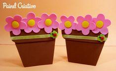 Vasinho de flores lembrancinha dia das mães