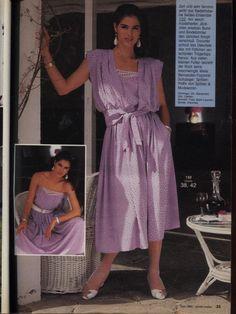 Decades Fashion, 80s Fashion, Fashion History, Fashion Dresses, Vintage Fashion, Burda Patterns, Vintage Sewing Patterns, Princess Caroline, Mode Vintage