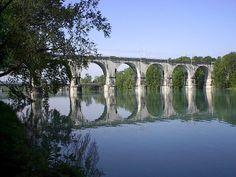 Gorizia. Ponte sul fiume Isonzo