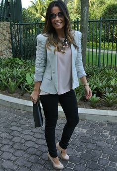 38 Stylish Work Clothes – Office Fashion. if only i could do my makeup where i work :(