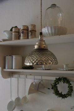 Bauernsilber Lampe im Vintage Look  Shabby Chic