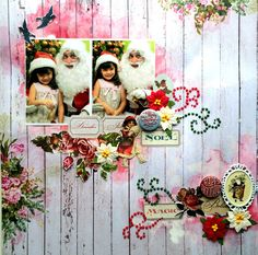 It's all merry and bright! Beautiful Winter Joy lay-out by Solange Marques for ScrapBerry's