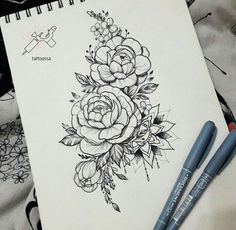 21 Ideas tattoo mandala rose flowers for 2019 Arrow Tattoos, Rose Tattoos, New Tattoos, Tatoos, Form Tattoo, Shape Tattoo, Tattoo Thigh, Trendy Tattoos, Small Tattoos
