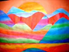 Art  Projects: 3rd grade - landscapes