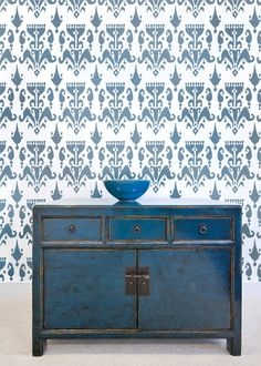 If I had the patience - Beautiful end result - Wall Stencil Ikat Bukhara  Trendy stencils by CuttingEdgeStencils, $46.95