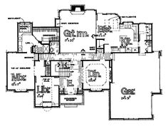 Luxury House Plan First Floor - 026D-0327 | House Plans and More