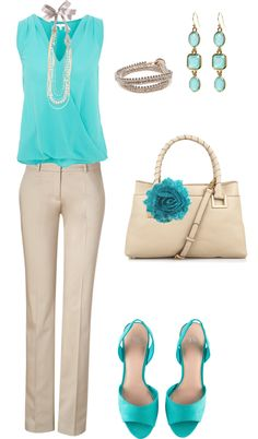 """""""#turquoise #nude #pretty #classy"""" by serenahilton on Polyvore"""
