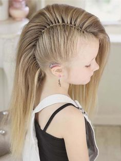 50 pretty perfect cute hairstyles for little girls that show their stylish side hairstyles 2019 Little Girl Hairstyles Cute Girls hairstyles Perfect Pretty show side stylish Mohawk Braid Styles, Short Hair Styles, Long Hair Mohawk, Curly Hair, Viking Hair, Viking Braids, Mohawk Hairstyles, Mohawk Updo, Fashion Hairstyles