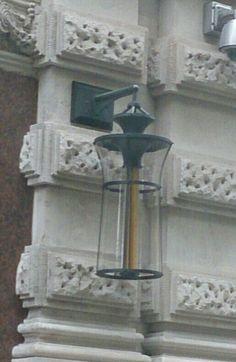 Lamps outside Corinthians Hotel, London.