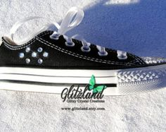 Last One!! Blinged Kids (size 11) Converse Chuck Taylor All Star Sneakers Made with SWAROVSKI® Crystals- New In Box