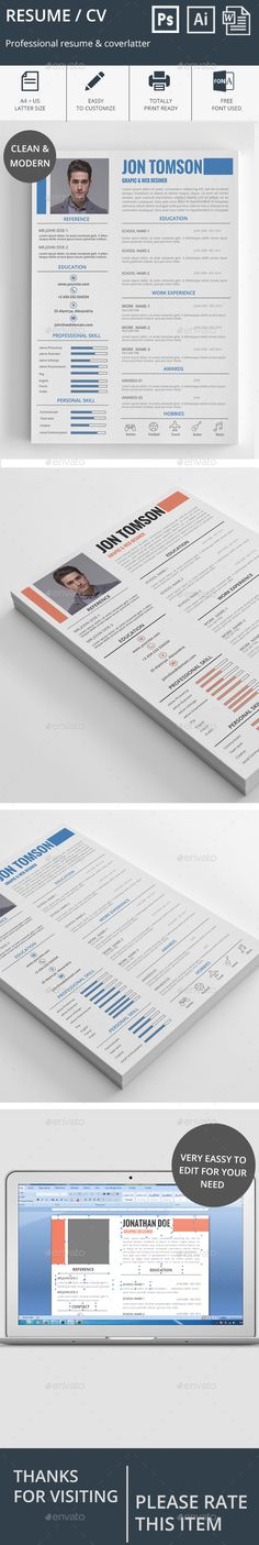 Resume Template - Resumes Stationery Best Resume Templates - resume template with picture insert