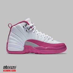 The Air Jordan 12 GS Dynamic Pink is specially made as an exclusive edition just for the girls. While it looks like something perfect to celebrate Valentine's Day next week this little piece of art is actually launching in March 2016.