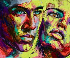 Abstract Portrait Painting, Abstract Painting Techniques, Portrait Art, Abstract Faces, Abstract Drawings, New Retro Wave, Peace Art, Graffiti Wallpaper, Street Art Graffiti