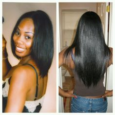 Relaxed hair journey (pic not me). Relaxed Hair Growth, Long Relaxed Hair, Relaxed Hair Journey, Healthy Relaxed Hair, Long Natural Hair, Healthy Hair, Relaxed Hair Regimen, Pretty Hairstyles, Straight Hairstyles