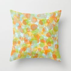 FREE Shipping thru May 12 worldwide - via: http://society6.com/ts55?promo=8a7162 / Pebbles Orange Throw Pillow by ts55