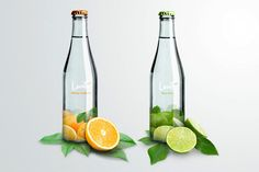 LEVITÉ mineral water, by whomadeid. Redesign of the bottle and label for Mexican mineral water Levité. Water Packaging, Juice Packaging, Beverage Packaging, Bottle Packaging, Packing Desing, Natural Mineral Water, Water Bottle Design, Glass Bottle, Label Design