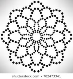 Mandala Dots Coloring Page em ilustração stock 530848816 - Shutterstock Mandala Art, Stencils Mandala, Mandala Painting, Mandala Pattern, Mandala Design, Pattern Art, Dot Art Painting, Rock Painting Designs, Painting Patterns