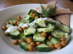 Healthy Recipe: Roasted Chickpeas and Cucumber Salad