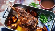 A delicious recipe for Roast lamb leg with red wine gravy brought to you by ninemsn.