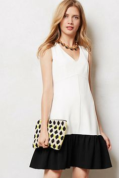 Totally would've worn this when I was pregnant... It just looks so comfy!  Colorblock Crepe Dress #anthropologie