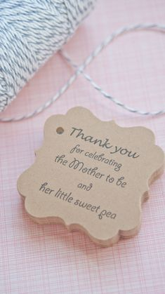 Baby Shower Favor Tags www.somethingwithlove.etsy.com www.somethingwithlove.com