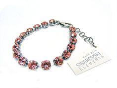 Armband mit Swarovski Elements -Uni- Rose Peach Günstig