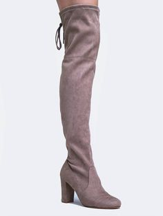 timeless design b6345 61572 For a striking look pull on these sexy thigh high boots! - Vegan suede