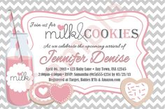 Strawberry Milk and Cookies Baby Shower Invitation. $10.00. Visit www.facebook.com/simplybydrea