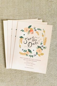 Bright and pretty: http://www.stylemepretty.com/2015/04/13/20-chic-save-the-dates/