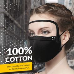 Cotton Mask with Eye Shield – Stylish Daily Deals Easy Face Masks, Diy Face Mask, Remedies For Bee Stings, Tapas, The New Normal, Diy Mask, Mask Design, Face Shapes, Cool Things To Buy