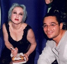 Cyndi Lauper backstage at The Pier in Fort Lauderdale. She recognized me from an e-mail and we talked about Kindred Spirit my Beagle dog that was named after her song.