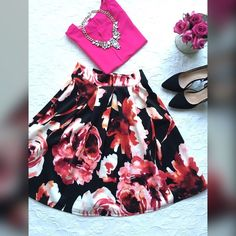 Outfit , skirt & the cute top . Both ! All new ! Skirt 24 inches long , Medium size , top medium size , very cute ! Skirts A-Line or Full