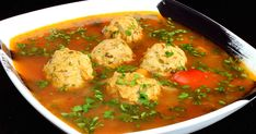 I give you here the recipe for one of the more popular soups in Romania. In fact, we don't even call it a soup: it is a 'ciorba' (pronounce. Pickled Hot Peppers, Eden Foods, Soup Recipes, Cooking Recipes, Recipes Dinner, Baked Fish Fillet, Meatball Soup, Romanian Food, Chowders