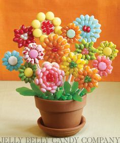 Create a bouquet of flowers to brighten up any desk! These Flower Cookie Pops are a wonderful gift for a favorite teacher or for birthday parties and showers! Credit: whatsnewcupcake (Karen Tack and Alan Richardson, authors of Hello, Cupcake!)