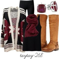 Love this winter outfit!