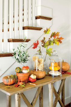 Fabulous Fall Decorating Ideas: Fall Pumpkin Tableau