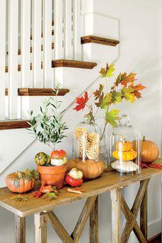 Fabulous Fall Decorating Ideas: Fall Pumpkin Tableau