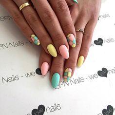 SPN UV LaQ 533 Sunshine, 607 Baby Mint , 627 Call me baby  Nails by Alesia, Lejdis Nail Spa, SPN Team Zielona Góra <3