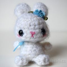 ~twistyfishies~ White Bunny - Kawaii Amigurumi. $25.00, via Etsy.