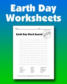FREE Earth Day Worksheets - Free printable Earth Day worksheets and activity pages for kids from PrimaryGames. www.primarygames.com