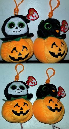 813183a960f Ty 19203  Spooky And Midnight Beanie Boo Clips Set Of 2 - Halloween - Mwmt