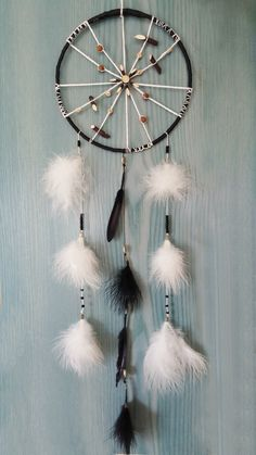 Black and white Dream Catcher Bohemian Dream by DreamyFlowerWonder