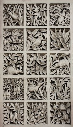 Panel of Australiana motifs.