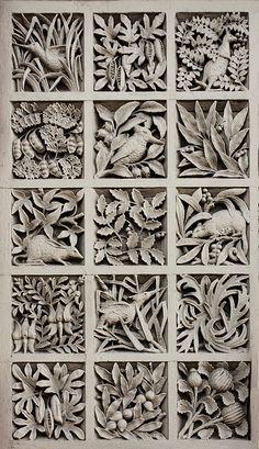 Panel of Australiana motifs, Old South Yarra Post Office | AJ MacDonald, 1892-93