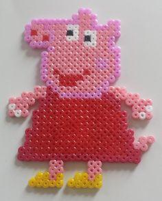 Magnet collection Peppa Pig, Peppa cochon en Perle hama : Accessoires de maison par mes-petites-pommes