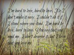 Hard to Love-Lee Brice. My photo and edit :)