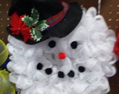 Winter Wonderland Burlap and Mesh Wreath Mint by StarlightWreaths